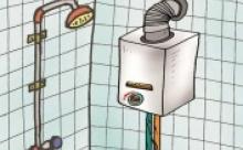 نصب آبگرمکن در فضای بدون تهویه ممنوع!